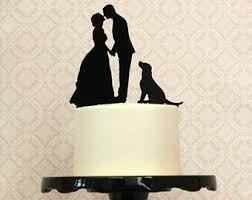 cake topper with dog wedding cake toppers dogs wedding corners
