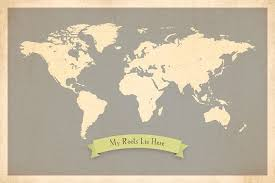 My Travel Map Amazon Com My Roots Personalized World Map 24x18 Print Kid U0027s