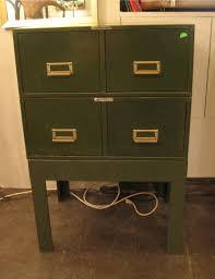 Mini Filing Cabinet 1950s Army Green 5x8 Card Mini File Cabinets White Trash Nyc