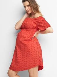 Cold Weather Maternity Clothes Maternity Zigzag Off Shoulder Dress Gap