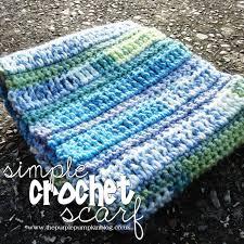 simple pattern crochet scarf simple crochet scarf