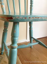 makeover of a pine kitchen chair using chalk paint honey u0026 roses