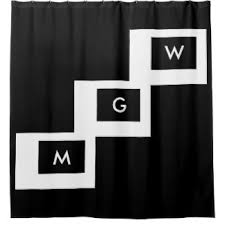 letter shower curtains zazzle