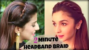 cute u0026 easy 2 min everyday headband braid for college