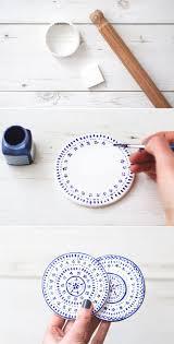 diy untersetzer aus modelliermasse mit eisteerezept keramik