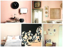 peach beige apricot rose powdery wall colour for bedroom or