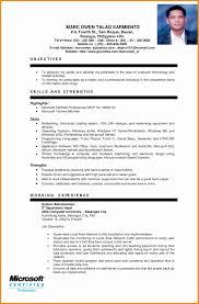 resume format template resume format for ojt fresh 6 sle ojt resume resume sle