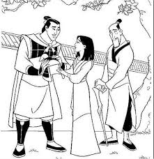li shang mulan father battle coloring