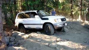 99 toyota land cruiser land cruiser 100 series climbing the staircase at slick rock trail