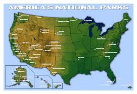 parks map america s national parks map national park posters