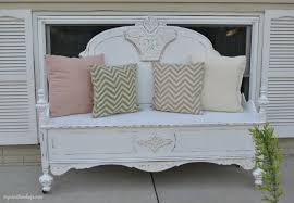 repurposed bed makes charming bench my creative days