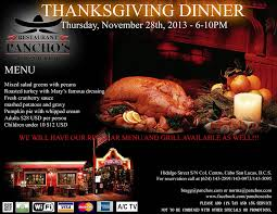 celebrate american thanksgiving at pancho s events los cabos