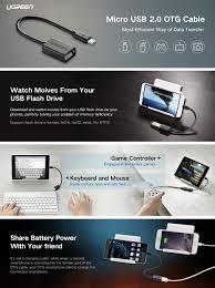 format flashdisk untuk otg amazon com ugreen micro usb 2 0 otg cable on the go adapter male