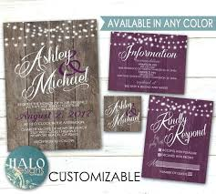 purple wedding invitation kits purple wedding invitations kits purple rustic wedding invitations