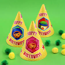 team umizoomi party supplies team umizoomi birthday party hats nickelodeon parents
