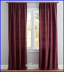 Silk Dupioni Curtains Gorgeous Pottery Barn Silk Dupioni Curtains Madeira Burgundy Set