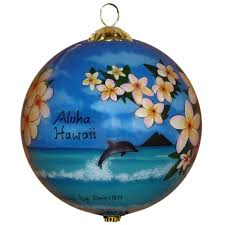 hawaiian plumeria ornament by design