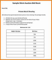 11 bid sheet template cashier resume