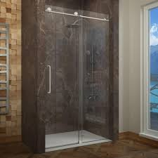 uncategorized vigo elan 52 in x 74 in frameless sliding shower