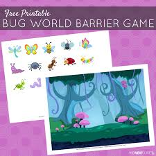 free printable bug barrier game speech therapy