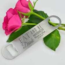 personalized wedding favors engraved bar blade bottle opener personalized favors