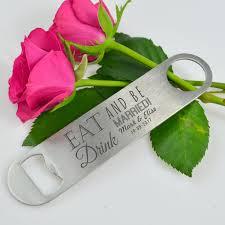 personalized bottle opener wedding favor engraved bar blade bottle opener personalized favors