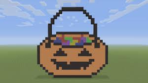 halloween pumpkin bag minecraft pixel art halloween pumpkin trick or treat bag youtube