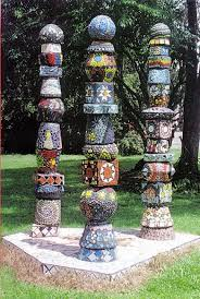 totem poles 2006 mixed media by felicity wallis mosaics