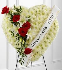sympathy flowers standing sympathy patriot heart flowers