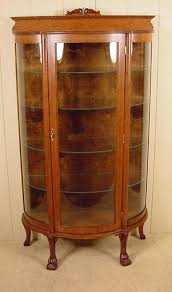 antique curio cabinet with curved glass antique oak curved glass claw feet curio cabinet cabinet glass