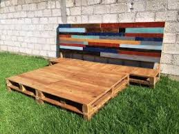 pallet bed frame recycled pallet ideas