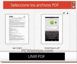 varias imagenes a pdf online app web unir dividir y convertir archivos pdf sin registros