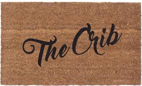 doormat funny vinyl back doormat the crib coir doormat funny doormat