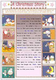 english teaching worksheets christmas stories