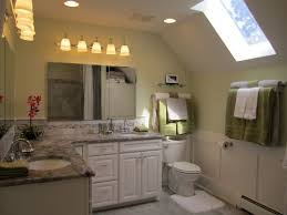 traditional bathroom decorating ideas unique slanted ceiling with cute skylight for traditional bathroom