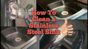 How To Clean The Kitchen Sink How To Clean Your Kitchen Sink How To Clean Stainless Steel Sink