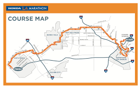 Nyc Marathon Route Map La Marathon 2012 Stormy Weather Paired With Road Closures Could