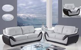 global furniture usa 3250 sofa set grey black bonded leather