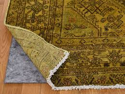 Gold Oriental Rug 7 U0027x10 U0027 Hand Knotted Pure Wool Gold Persian Overdyed Tabriz