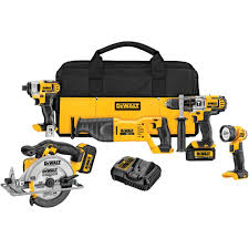 home depot black friday 2016 milwaukee tools dewalt 20 volt max lithium ion cordless combo kit 5 tool with 2