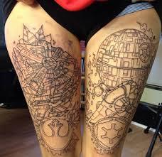 work in progress frontal wars leg tattoos