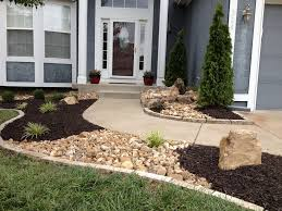 outstanding stone landscaping ideas with best 25 river rock landscaping ideas on pinterest diy