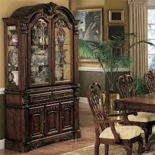 china cabinet black wood contemporary curio bookcase display