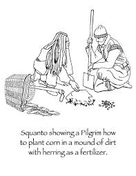 many hoops thanksgiving squanto coloring page many hoops