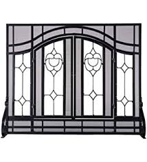 Free Standing Fireplace Screens by Amazon Com Plow U0026 Hearth Floral Small Fireplace Screen With Doors
