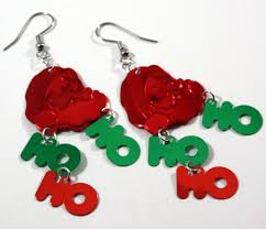 christmas earrings christmas earrings santa claus ho ho ho dangles