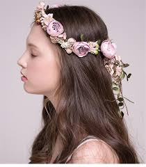 prom hair accessories wedding bridal flower headpiece boho style floral flower crown