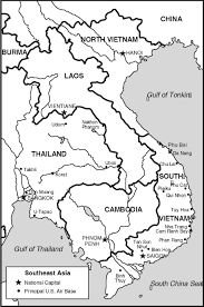 Thailand Blank Map by Vietnam War Maps