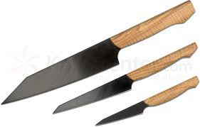 meglio knives custom 3 piece kitchen knife set black pvd cpm 3v