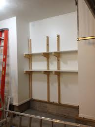 Building Wood Shelves Garage by Maximizing Small Garage Spaces Using Diy Wood Custom Wall Mounted